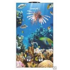 Водонагреватель газ. SUPERFLAME SF0120 Glass (10 л/мин) (с дисплеем) Рыбы